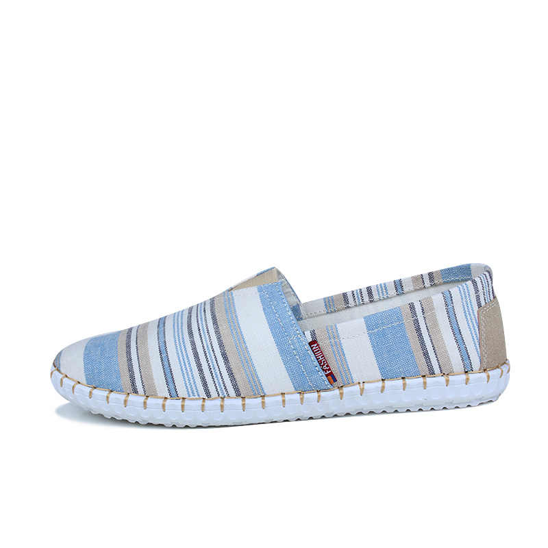 17aa29f39486 ... JKPUDUN Summer Men Canvas Shoes Espadrilles Breathable Casual Shoes Men  Loafers Comfortable Ultralight Lazy Shoes Chaussures ...