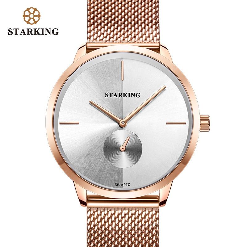 STARKING Rose Or Acier Montres Femmes Top Marque De Luxe Casual Horloge Dames Montre-Bracelet Dame Relogio Feminino Zegarek Damski