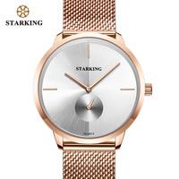 STARKING Rose Gold Steel Watches Women Top Brand Luxury Casual Clock Ladies Wrist Watch Lady Relogio Feminino Zegarek Damski