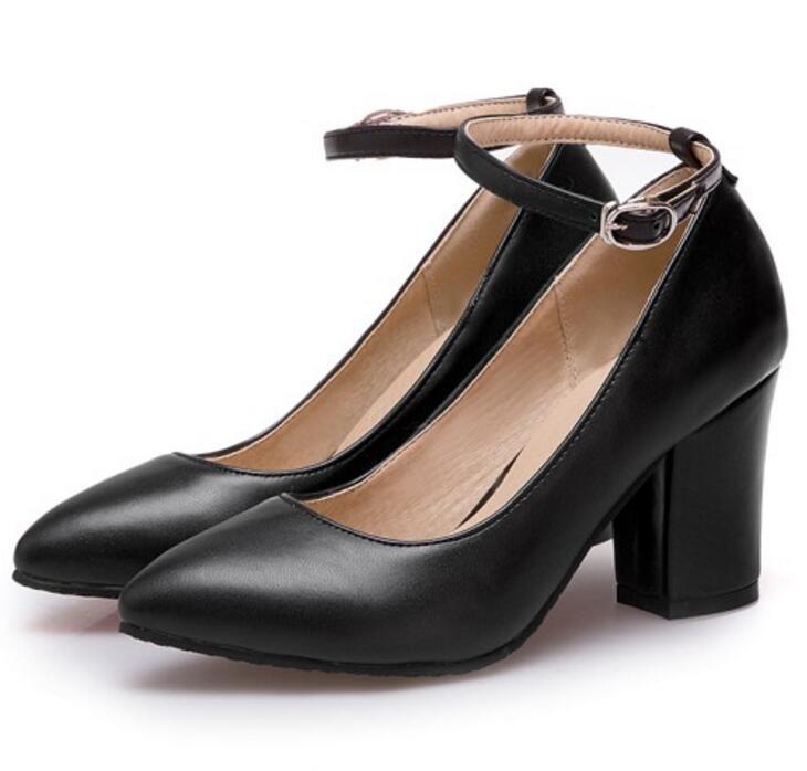Bureau dames Chaussure Femme femmes Chunky Zapatos Mujer talons hauts pompes chaussures Femme Sapato Feminino beau printemps P161621