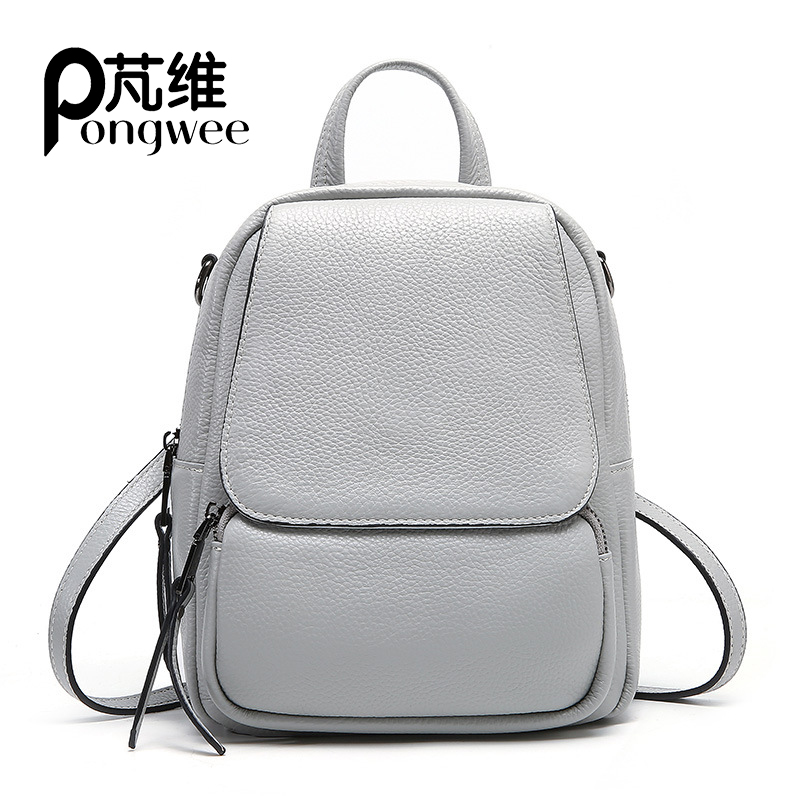 PONGWEE 2019 new leather wild casual backpack college wind top handle backpack fashion backpackPONGWEE 2019 new leather wild casual backpack college wind top handle backpack fashion backpack