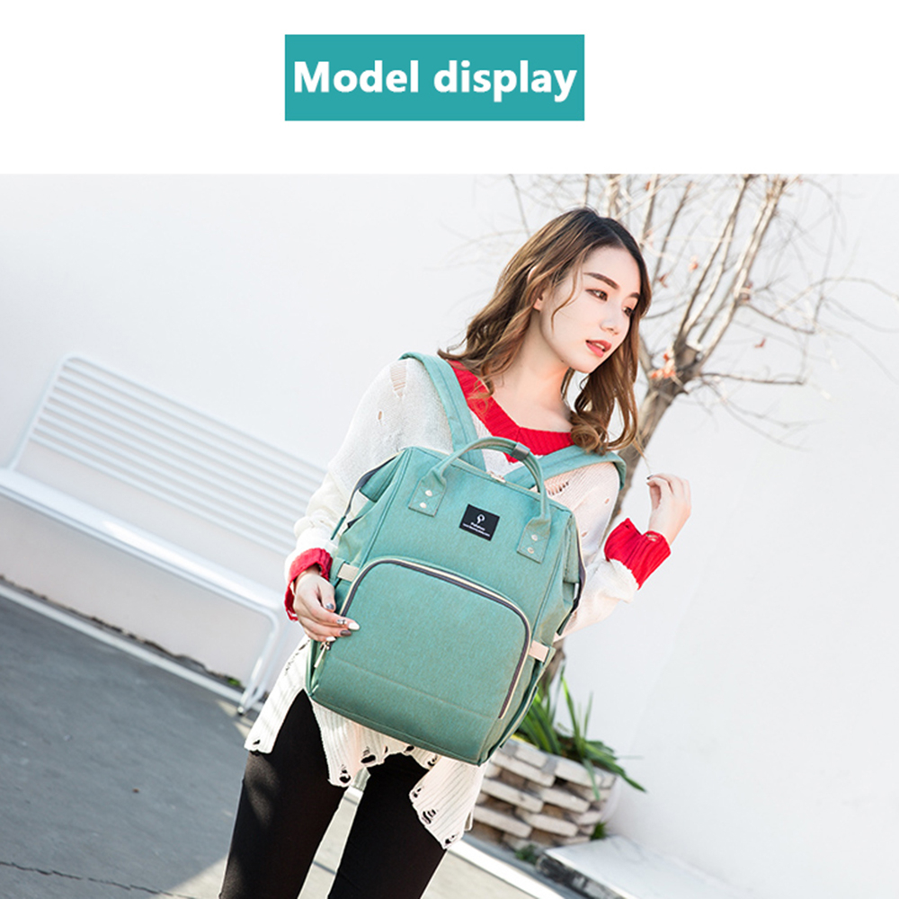 HTB1ukWXbvvsK1Rjy0Fiq6zwtXXal Baby Diaper Bag With USB Interface Large Capacity Travel Backpack Nursing Handbag Waterproof Nappy Bag for Baby Care with 2 Hook
