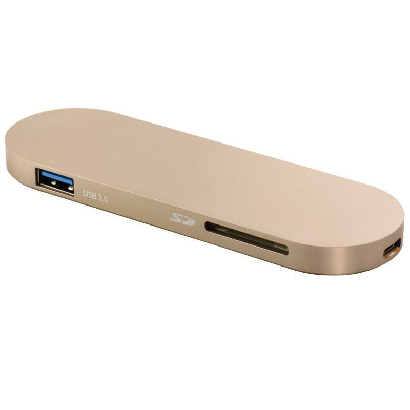 ФОТО USB-C to USB Multiport Adapter, Sipolar USB-C to 2-Port USB 3.0 Hub support charging the New Macbook and data transfer