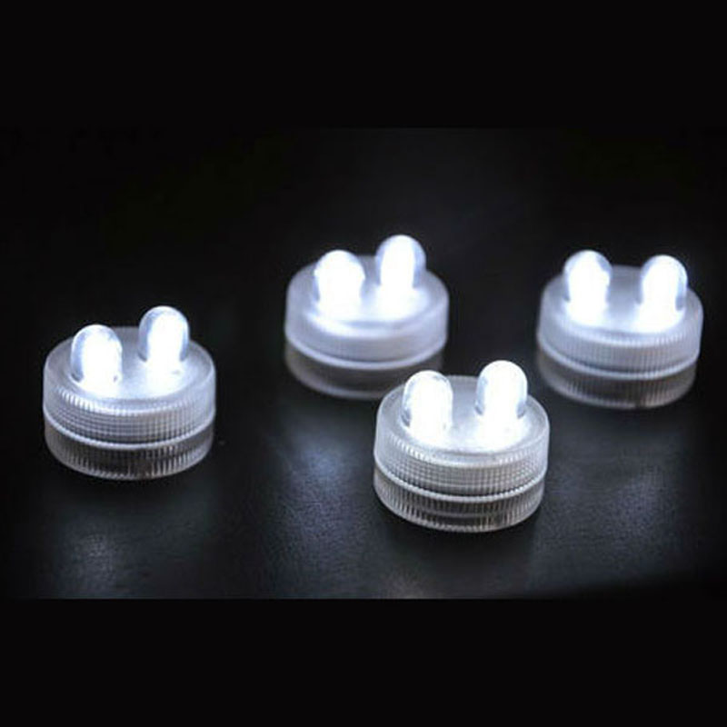 200 pieces/lot Battery Operated LED Submersible Waterproof Tea Lights Candle Wedding Party Decoration