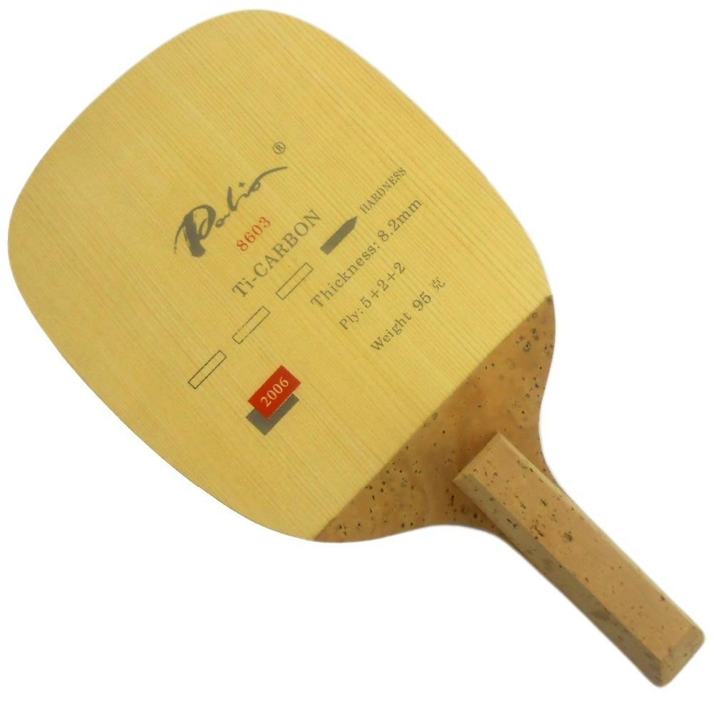 Palio 8603 Ti-Carbon Table Tennis Blade (Japanese Penhold) for PingPong Racket слингобусы ti amo мама слингобусы сильвия