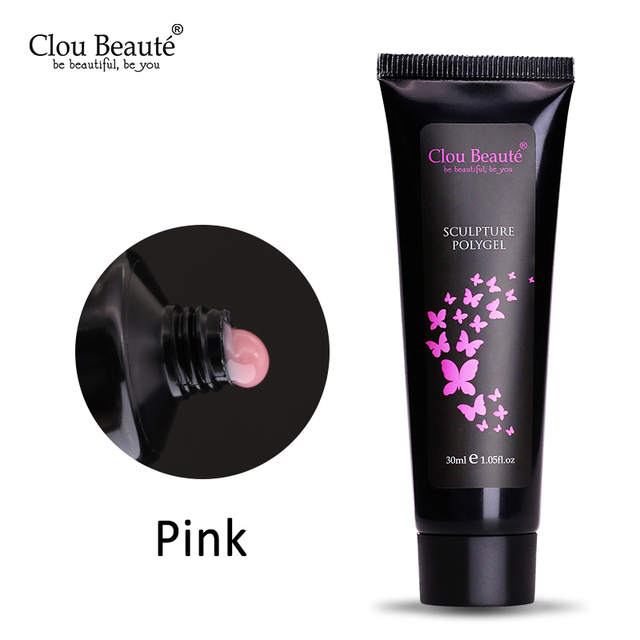 Clou Beaute Nail Extension Builder Gel Nail Polish White Transparent Pink UV Gel Polish Quick Building Jelly Gel French Manicure