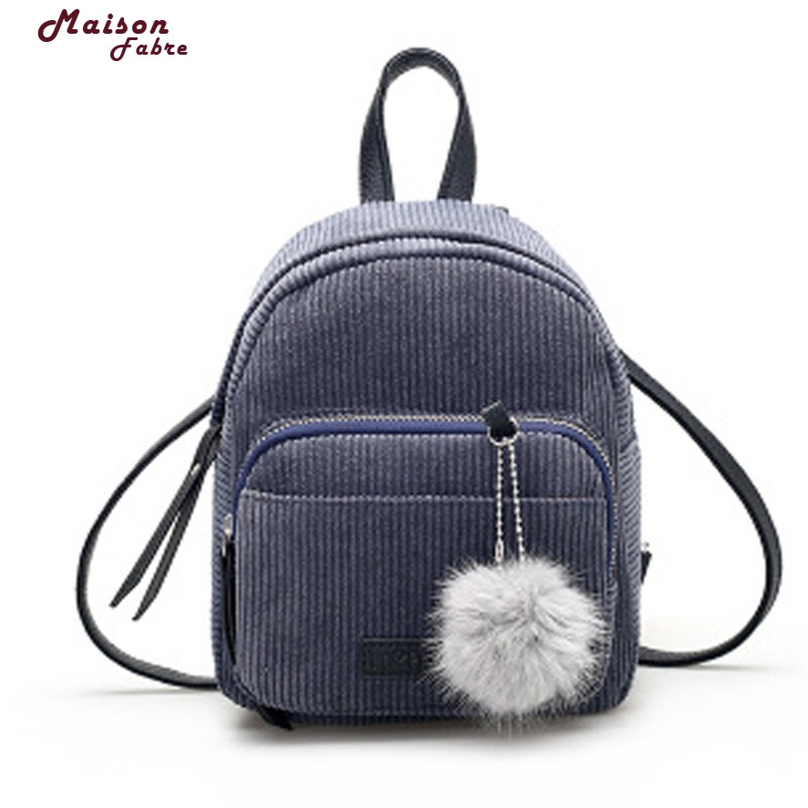 Women Corduroy Backpacks Schoolbags Travel Shoulder Bag backpacks for teenage girls portfolio school mini backpack for teenagers