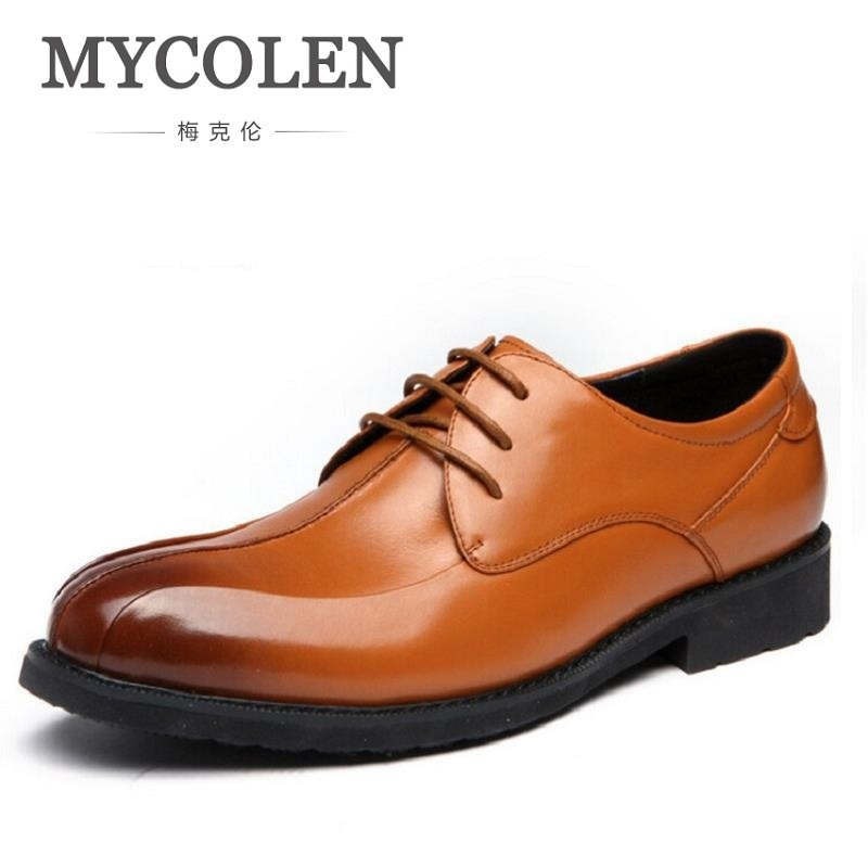 MYCOLEN Luxury Brand Men Flats High Quality Leather Derby Shoes Mens Lace Up Business Dress Shoes Oxfords For Men sapatos gram epos men high quality winter warm plush oxfords casual shoes men dress business lace up flats zapatos de hombre male botas