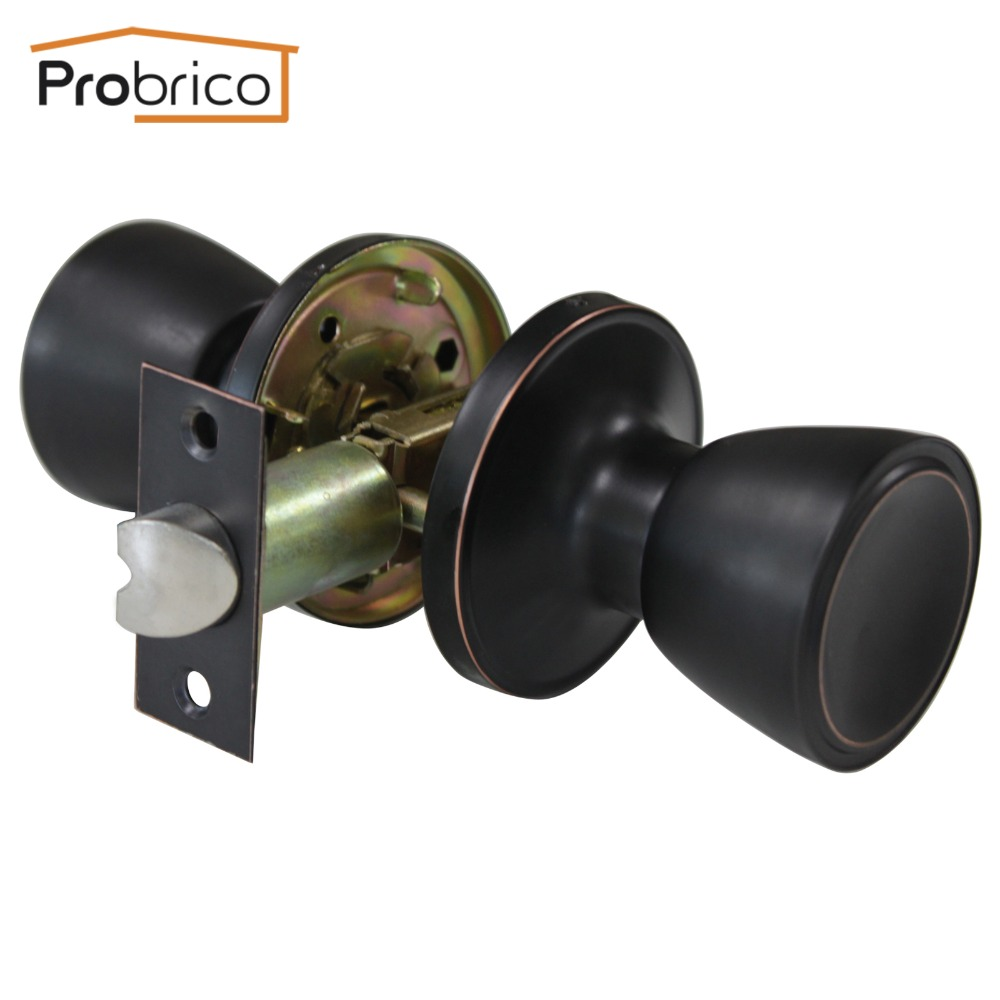 Probrico Wholesale 10 Pcs Passage Keyless Door Lock Stainless Steel Oil Rubbed Bronze Door Knob