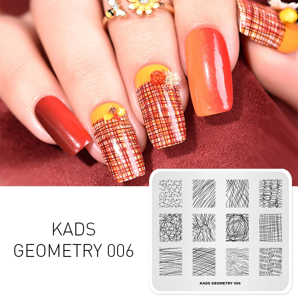 Image 5 - KADS Nail Stamping Plates 38 Design Various Series More Choices Manicure Stamping Template Image Plates For DIY Nail Decoration-in Nail Art Templates from Beauty & Health