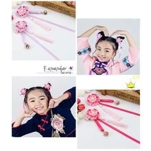 1pcs Chinese Princess kids handmade hairclip pearl flower hair bands pin girls accessories party gift