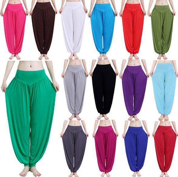 ①  16 цветов модальные штаны для йоги женские свободные танцевальные брюки ①