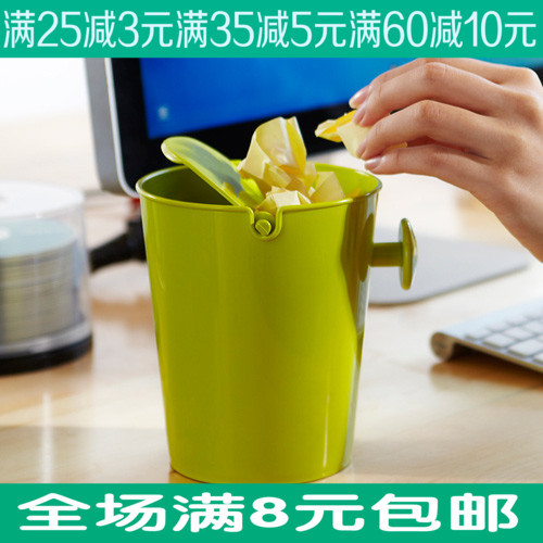 Desktop roll cover trash bucket pocket-size snacks garbage desktop storage box seed