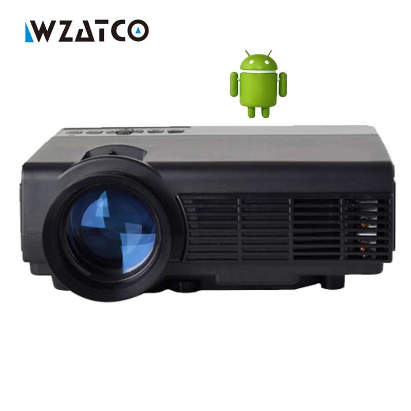 WZATCO CQ5 Smart Android Home Theater 1080P HD HDMI USB Video X7 Portable WIFI AM01S LCD