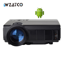 WZATCO CQ5 Inteligente Android Home Theater 1080 P HD HDMI USB AM01S X7 WIFI Portátil LCD LLEVÓ el Mini Proyector Proyector de vídeo Proyector