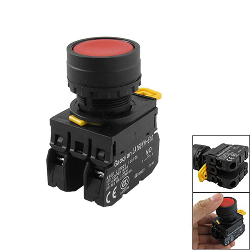 Professional YW1B-M1E11PR Red Sign Signal Momentary Push Button Switch 22mm 7/8 CLH