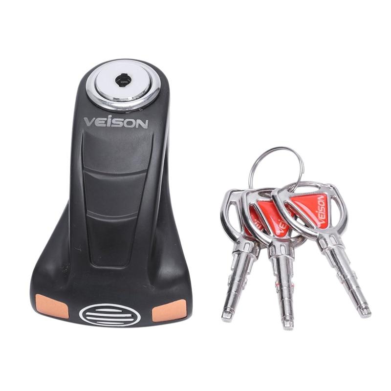 Veison Security Disk Lock Motorcycle Bicycle Scooter Anti-Theft Rotor Brake Waterproof Padlock Motorcycle Disc Brake Lock
