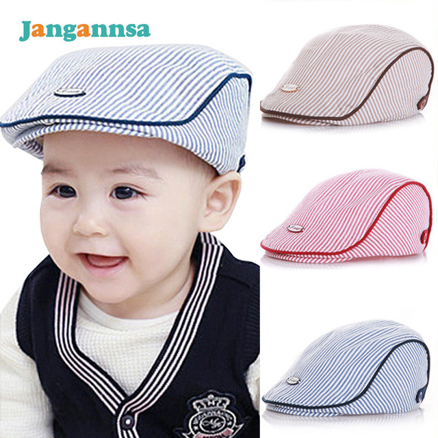 2514f90e1a523 Baby Beret Cap Cotton Soft Baby Hat Striped Kids Beret Hat Spring Autumn Baby  Cap Boy Girl Photography Props Baby Boy Clothing