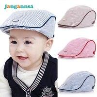 Baby Beret Cap Cotton Solid Baby Hat Striped Kids Beret Hat Spring Autumn Baby Cap Boy