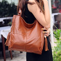 Russian Fashion style genuine leather women's handbag Cowhide shoulder messenger bag for women Hot selling Tassel leather bags