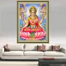 3d voller diamanten malerei Gott des reichtums diamant stickerei Lakshmi platz diamant mosaik Elefanten bild von strass lotus