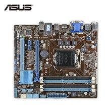 ASUS B75M-PLUS оригинальный использоваться для настольных ПК B75 разъем LGA 1155 i3 i5 i7 DDR3 32 г SATA3 USB3.0 uatx
