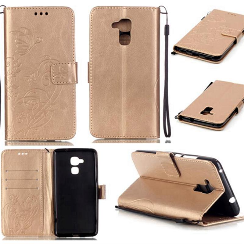 Huawei Honor 7 Lite Case 3D Embossing Flower PU Leather GT3/Honor 5C/7Lite Flip Wallet Cover Card Slot  -  Shenzhen Inpet Technology Co., LTD store