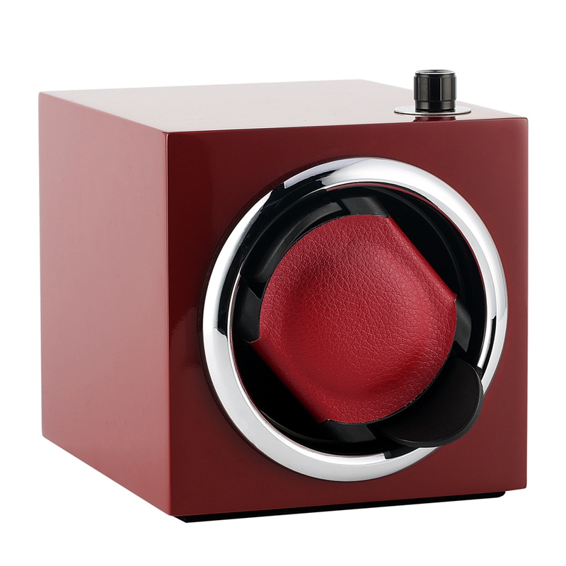 Pratique US/UK/AU/EU Plug automatique mécanique montre-bracelet boîte de luxe rouge montres en bois mallette de rangement boîtes d'affichage