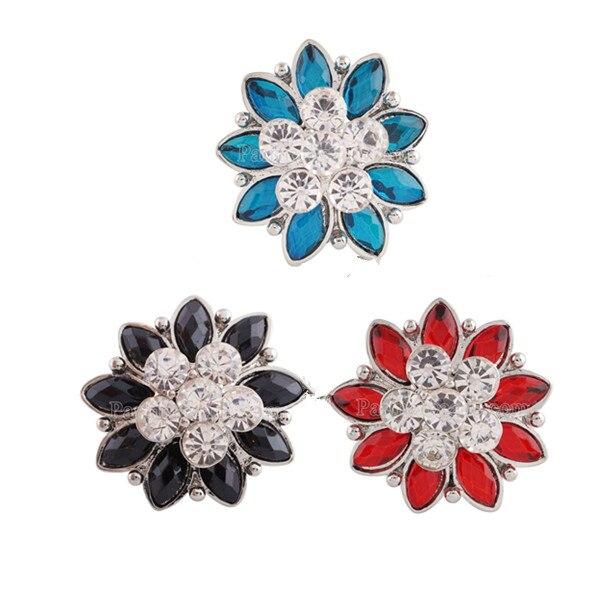 High Quality 20mm Alloy Fashion Snap Button Bracelet Charm Rhinestone Styles Button Partnerbeads Snaps Jewelry KC7195
