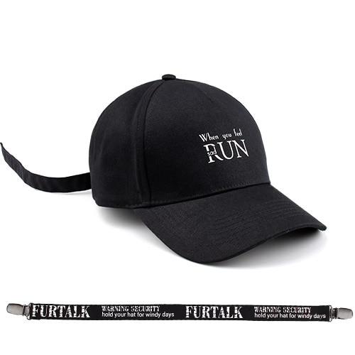 974a3662 € 8.46 50% de DESCUENTO|Furtalk casquillos negros para las mujeres y los  hombres gorra de béisbol marca de moda verano SnapBack náutica esquí ...
