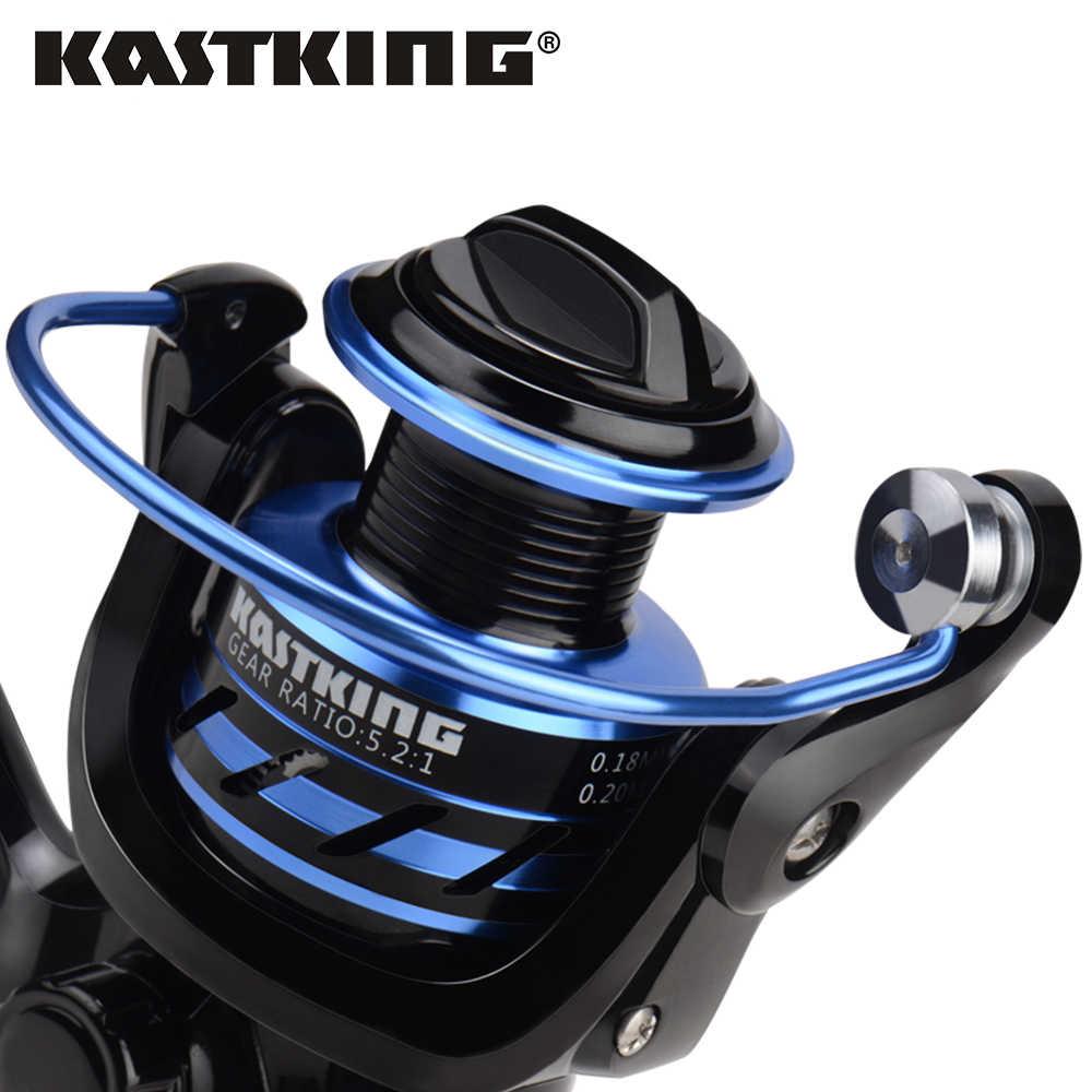 KastKing Pontus 9 + 1 roulements à billes arrière glisser double système d'arrêt 7KG Max glisser puissance eau douce carpe basse filature moulinet de pêche
