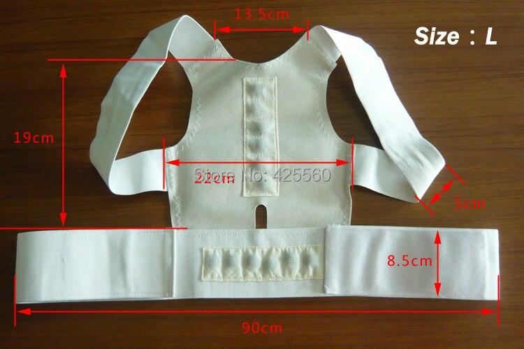 Nuevo imán postura espalda hombro Corrector apoyo terapia magnética terapia cinturón ajustable envío libre