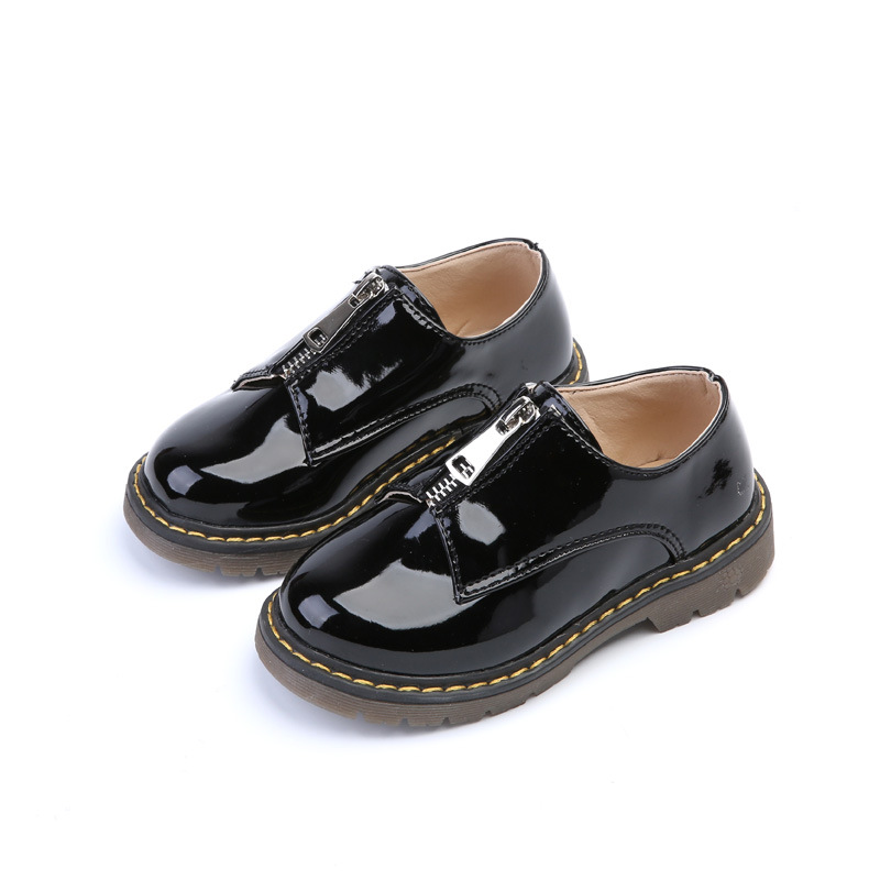 2017 spring new kids shoes candy colored small leather shoes men and women universal Martin boots