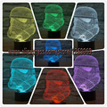 New 3D figure Star Wars white Warrior RC Toy illusion lamp Clone force colorful gradient visual  LED night light Birthday Gift