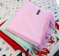 2016 зима стиль мода марка теплый женщины леди Шарфы кашемир роскошные Пашмины классический Бахромой шарф для женщин розовый красный серый