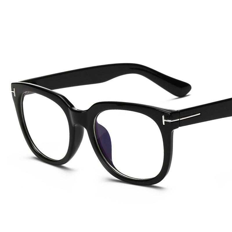 Moda óptica gafas Marcos miopía montura completa de metal mujeres ...