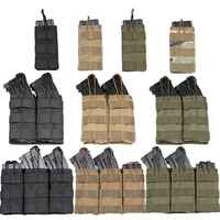 Bonne qualité 1000D Nylon Paintball Airsoft poche MOLLE simple/Double/Triple poche de Magazine