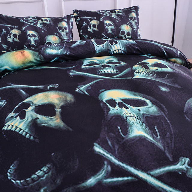 3D SKULL PATTERN BEDDING SETS
