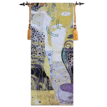 GT-SH0039 70*170 センチメートル クリムト-Watersnakes-tapestry-ヨーロッパのポーチ廊下のタペストリー