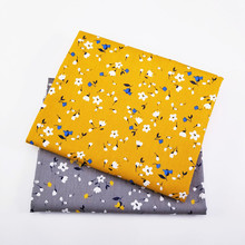 2 unids/lote de tela de algodón Floral Patchwork tela transpirable por metros para acolchar manta de cama de bebé Material de tela de costura