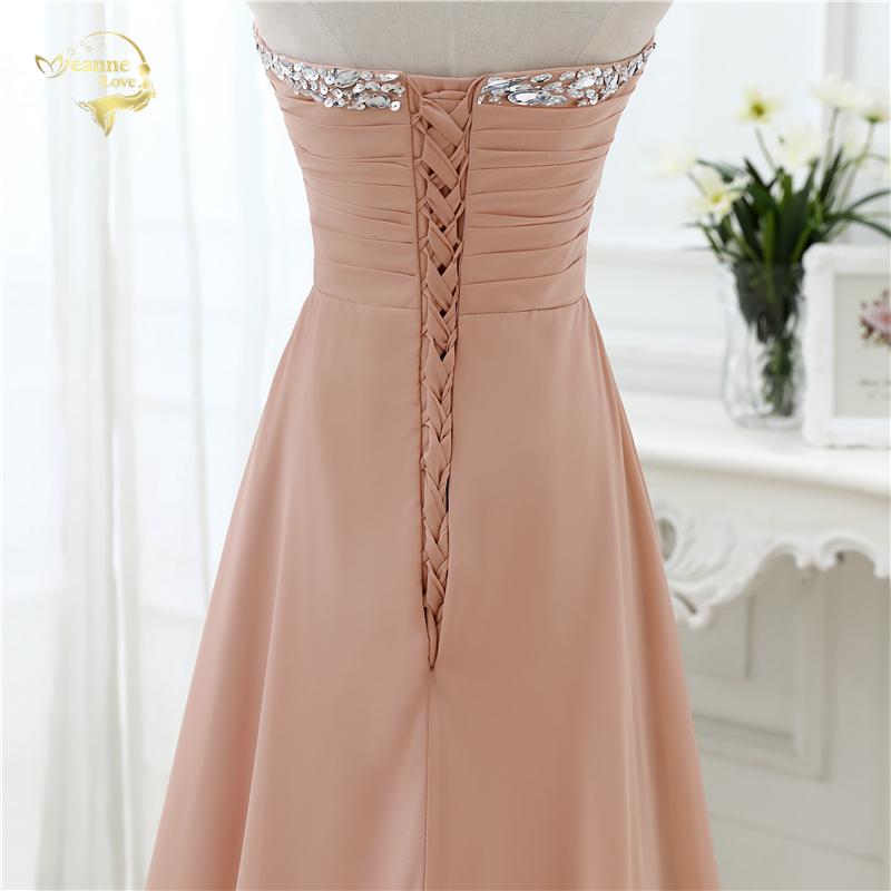 Open Leg Lace Up Sweetheart Neck Beading Crystal Long Chiffon Evening Dress