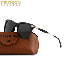 KEITHION Vintage Retro Classic Polarized Sunglasses Men Women Driving Square Frame Sun Glasses Mala UV400 Eyewear