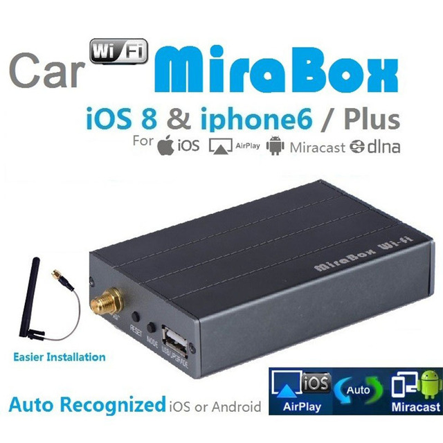 US $82 31 |CAR Mirabox Wireless WiFi Airplay Android Mircast & Screen  Mirroring to Car stereo for iPhone ipad Samsung Android phone-in Car  Multimedia