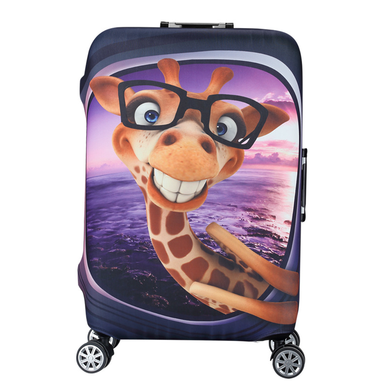Cute Travel Trunk Thicken Waterproof Luggage Protect Cover Suitcase Protective Dust Cover Animated Cartoon Travel Accessories