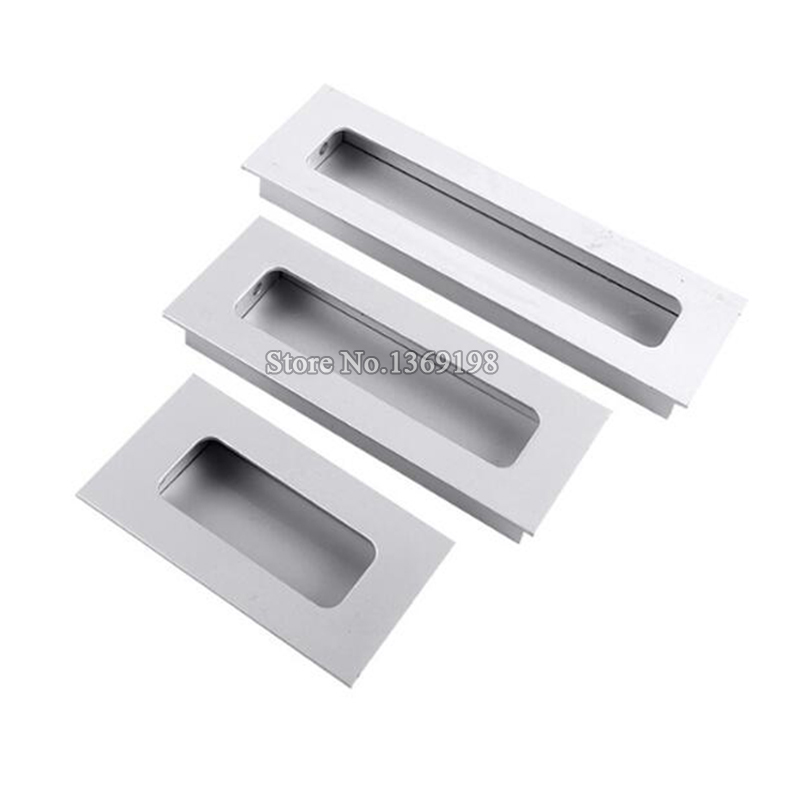 hot 10pcs cabinet handles hidden recessed pulls cupboard wardrobe drawer concealed handle sliding door handles and knobsin cabinet pulls from home