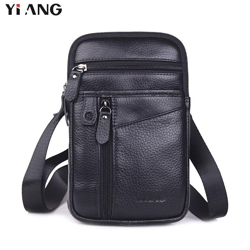 YIANG nouvelle mode hommes sacs en cuir homme sac petit sac à bandoulière sac à bandoulière téléphone portable pochette promotionnel taille ceinture sacs affaires