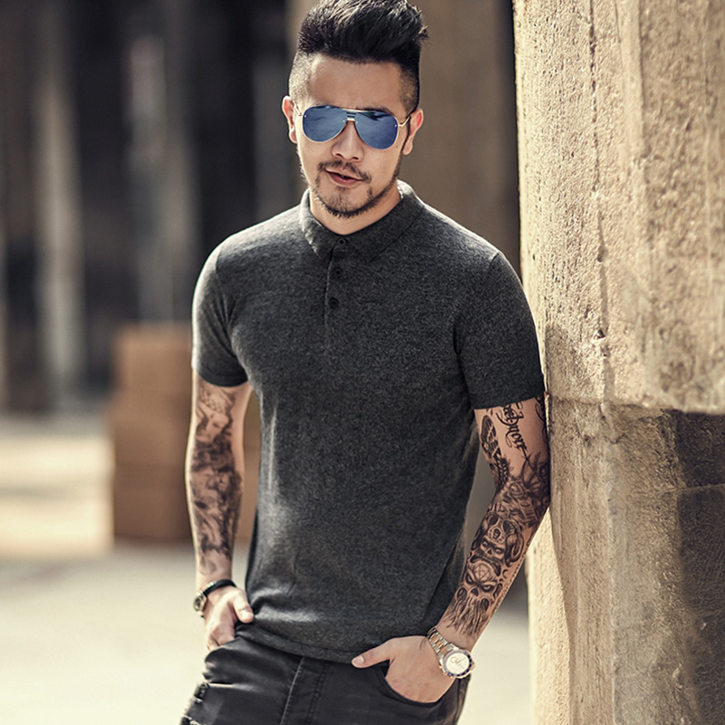 2017 Summer New Men Short Sleeve Cotton Casual Polo Men Slim Fit Solid Knitted Polo Men Fashion High Quality Breathable Polo Buy One Get One Free
