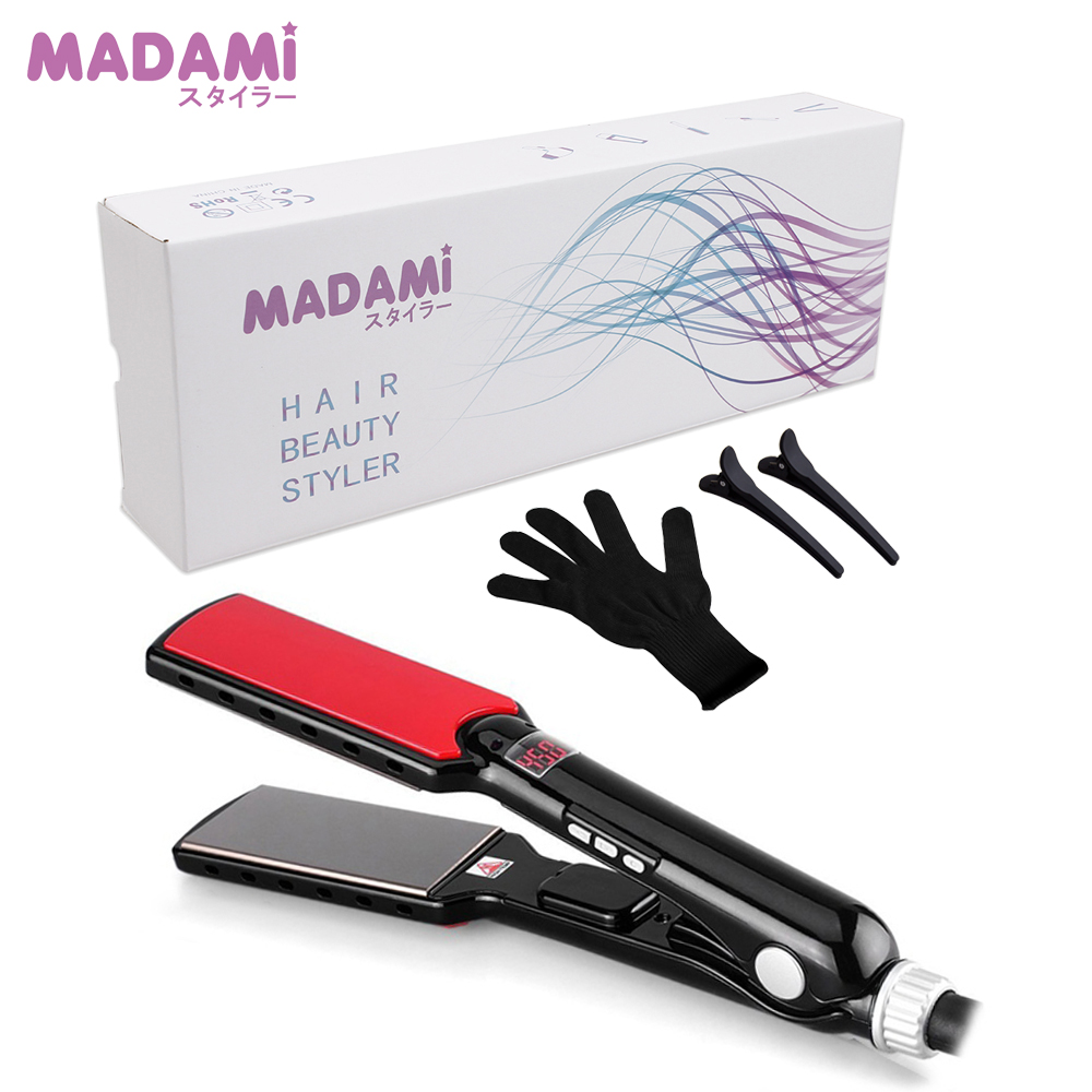 MCH 470F High Temperature Wide Plates Straightening Irons Styling Tools Titanium Professional Hair Straightener Flat Iron professional vibrating titanium hair straightener digital display ceramic straightening irons flat iron hair styling tools
