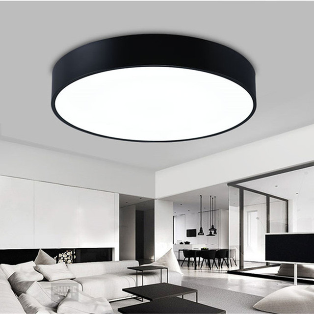 Simple modern round led ceiling light whiteblack circle ceiling simple modern round led ceiling light whiteblack circle ceiling mounted lamp home decor fixtures aloadofball Image collections