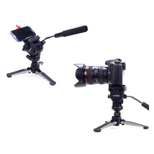 YUNTENG VCT-288 Mini Camera Tripod Unipod Holder + Monopod + Fluid Pan Head for Canon Nikon DSLR Cameras Photography Tripod Kit